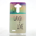 Sandy Beach Pattern Transparent Frosted PC Material  Phone Case for LG G4