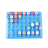 48 Alphabet Shape Silicone Ice Mold Cake Decorating Ice Tray (Random Color)