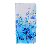 2015 The Newest Painted Dandelion Series Blue Dandelion PU Soft Case for iPhone 6 Plus