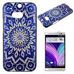 blu e bianco modello dipinto pc cassa del telefono materiale per M8 htc