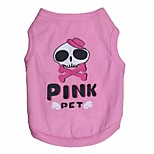 Lovely Beauty skeleton Pattern Cotton Vest for Pets Dogs(Assorted Sizes)