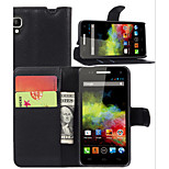 Litchi Around Open Bracket Leather Phone Wallet Card Suitable for Wiko Sunset (Assorted Color)