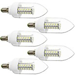 DAIWL 5PCS E14 5W(=Incan 40W) 42X5730SMD 350LM CRI>80 WarmWhite/White Light LED AC110V /220V