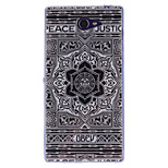 COCO FUN® Grey Stars Pattern Soft TPU IMD Back Case Cover for Sony Xperia M2 S50h