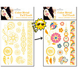 Dreamcatcher Discoloration Tattoo Sunlight will Change Color Tattoo Stickers Temporary Tattoos(1 Pc)