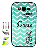 Waves Pattern Combo Material Phone Case And Support Dust Plug Stylus Pen  for Samsung Galaxy Grand Neo I9060