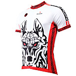 PaladinSport Men's Short Sleeve Cycling Jersey New Style Wolf DX400 100% Polyester