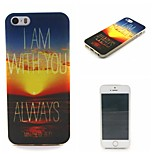 Romantic Sunset Painting Soft TPU Falling Proof Case for iPhone 5/5S