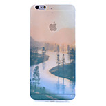 River Scenery Pattern TPU Border And Ultra-Soft PC Material Combo Phone Case for iPhone 6