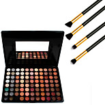 Cosmetics 88 Colors Neutral Eyeshadow Palette+4PCS Pencil Makeup Brush
