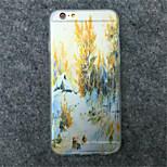 caja del teléfono del patrón TPU pintura de paisaje para el iphone 6s / 6 más