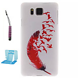 Red Feather   Pattern TPU Phone Case  for Samsung Galaxy Alpha/G850