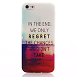 Red Sea Pattern TPU Soft Material Phone Case for iPhone 5/5S