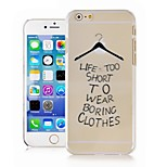 Hangers in English Pattern Transparent Phone Case Back Cover Case for iPhone6 Case