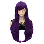70cm Style Natural Straight Fashion Women Party Wigs Heat Resist Synhtetic Cosplay costume Wig Purple