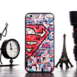 Super Man Pattern Frame Back Cover for iPhone 6