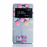 Dream Home Pattern PU Leather Phone Case For Sony Z4