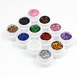 Nail Systems Sequins Gel Color Kits(12PCS*8ml)