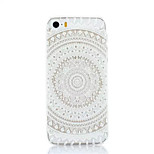 White Flower Pattern Plastic Hard Back Cover For iPhone5/5S