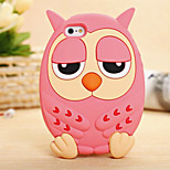 Owl Pattern Dimensional Relief Silicone Phone Case for iPhone 5/5S(Assorted Colors)