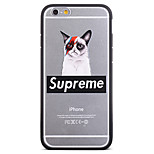 Fashion Sweater Clothes Blindfolded Cat Pattern Frame Back Cover for iPhone 6 Plus