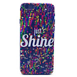 Flash Chip Pattern Plastic Hard Cover for iPhone 6