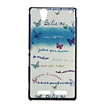 Butterfly Pattern Painted Material Quality PU Leather for Sony Xperia T2