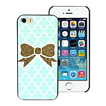 Golden Bowknot Design Hard Case for iPhone 4/4S