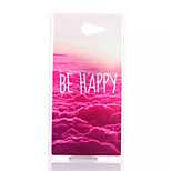 Fortune Patterned Transparent Frosted PC Phone Case For Sony Xperia M2