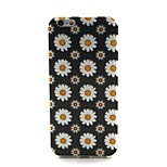 COCO FUN® Black & White Daisy Pattern Soft TPU IMD Back Case Cover for iPhone 6
