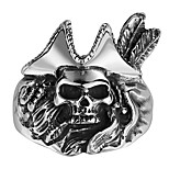 Stainless Steel Fashion Men's Pirate Skull Rings Gothic Punk Style Vintage Biker Man Jewelry GMYR143