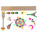 1 PC Fluorescent Color Bracelets Tattoo Stickers  for Body Makeup W323