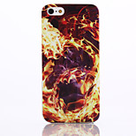 Fire Pattern TPU Material Phone Case for iPhone 5/5S