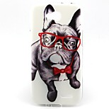 Spectacle Dog Pattern Soft TPU Case for LG L90 D405