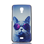 Glasses Cat Pattern Painted PC Phone Case for Wiko BLOOM