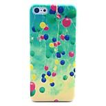 globo volar colorido en el caso de la cubierta dura patrón cielo por 5c iphone