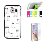 Lovely Cats Design Hard Case with Screen Protector and Stand Holder for Samsung Galaxy S6
