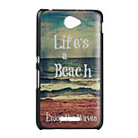 Sandy Beach Pattern PC Material Phone Case for Sony E4