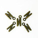Beadia 100PCS Alphabet Letter N  7x15mm Antique Bronze Alloy Charms Pendants DIY Accessories