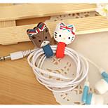 5PCS Button Style Cable Winders Random Color