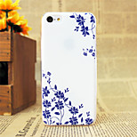 Blue Flowers Pattern Hard Case for iPhone 5C