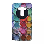 Colored Circles Patterns Wallet Card PU Leather Full Body Case for LG G4