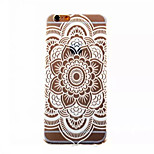 Rudra Flowers Pattern TPU Painted  Soft Back Cover for iPhone 6