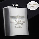 Personalized Gift 8oz The Anchor Design Stainless Steel Flask