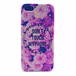Flowers Pattern PC Hard Case For iPhone 5/5S
