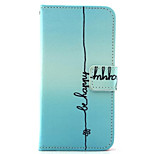 Signature  Pattern PU Leather Phone Case for iPhone5/5S