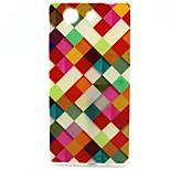 Colorful Square Pattern TPU Soft Case for Sony Xperia Z3 Mini
