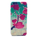 Red Heart Leaf Pattern Hard Case Cove for iPhone 6