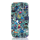 Debris Pattern PU Leather Phone Case for iPhone5/5S