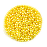 Beadia 58g(Approx 2000Pcs)  4mm Round ABS Pearl Beads Yellow Color Plastic Beads